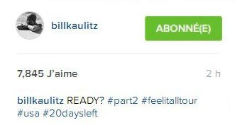 Instagram Bill kaulitz : PRETS? #part2 #feelitalltour #usa #plusque20jpurs