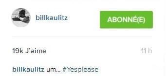 Instagram Bill Kaulitz : um... #ouis'ilvousplaît