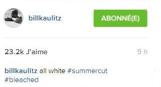Instagram Bill Kaulitz : Tout blanc #coupe d'été #décoloré