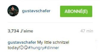 Instagral Gustav Shafer :  Ma petite Schnitzel aujourd'hui 😉 😋 #hungry #dinner