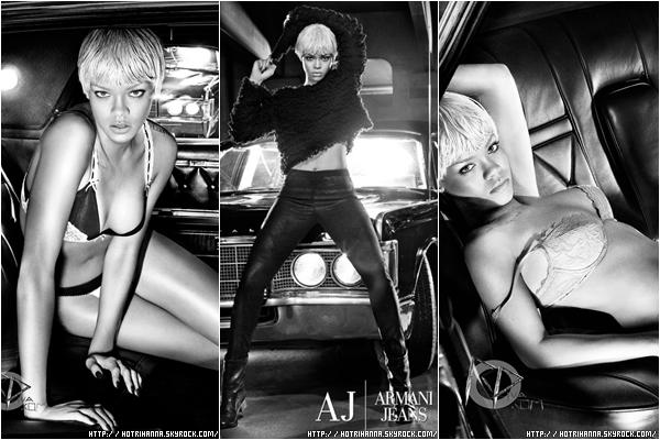 Rattrapage de news! Voici simplement une partie du photoshoot de Rihanna pour Armani, tu aimes ?