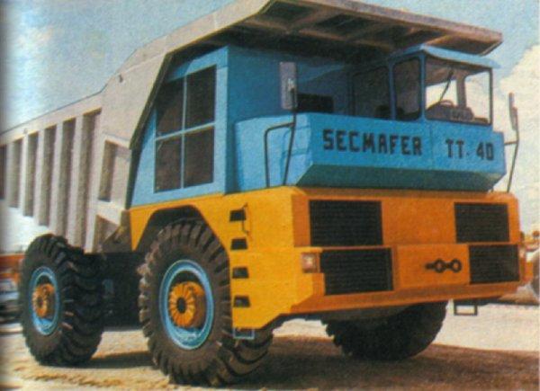 1/50 dumper SECMAFER TT40 brass model