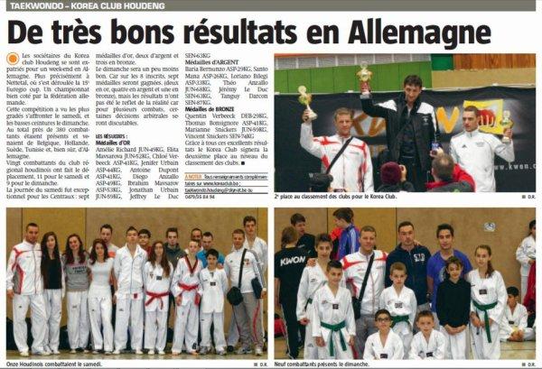 Article de presse Euregio Cup 2012