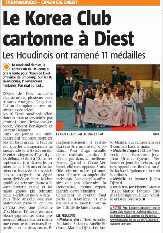 Article de presse Open Diest
