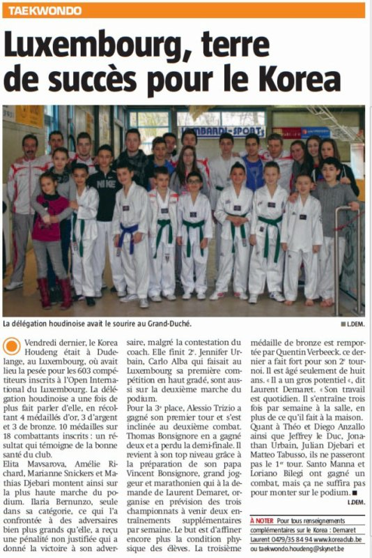 Article de presse international Open Luxembourg 2013