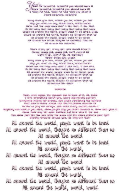 ‹ All around the world - Justin Bieber ›  (2012)
