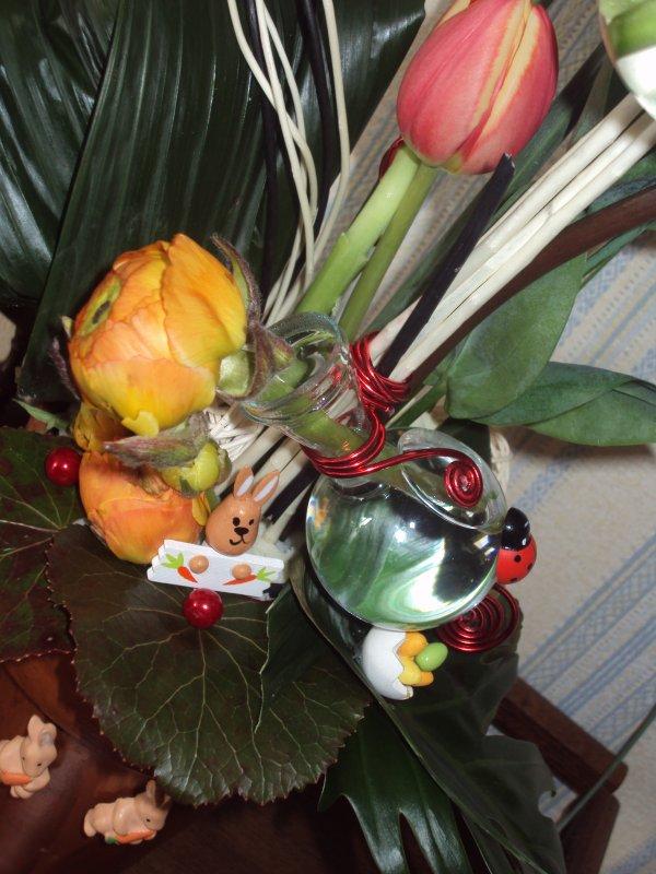 composition faite a l'art floral