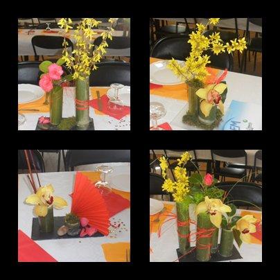 art floral sur le thème de l'asie pour l'association AEM de notre région