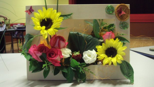 tableau florale fait en cour