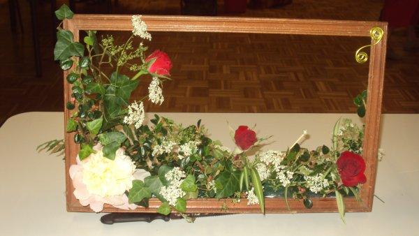 tableaux réaliser lors du cour d'art florale avec les moutiers actifs