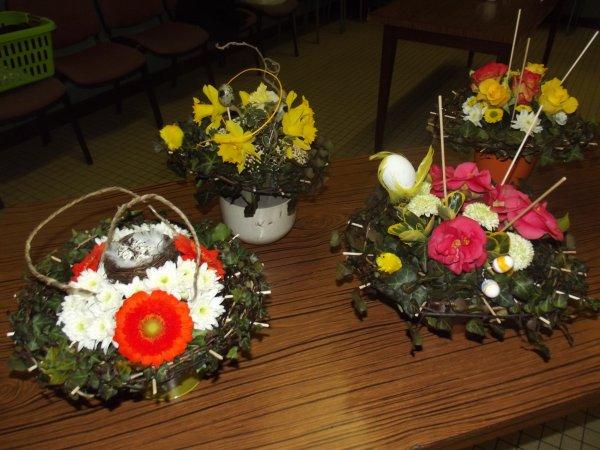 composition art floral avec notre association moutiers actifs