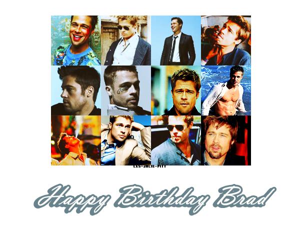** **  En ce 18 Décembre, Brad Pitt souffle sa 47ème bougie! Beaucoup de bonheur en ce jour pour l'un des meilleurs acteurs du monde, auprès de sa merveilleuse famille et de ses amis. Happy Birthday Brad ♥   ** **