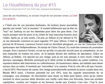 Je suis le Michel Houellebecq du jour!
