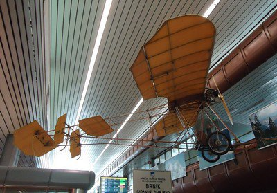 L'avion de Ljubljana