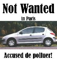 Not wanted in Paris!