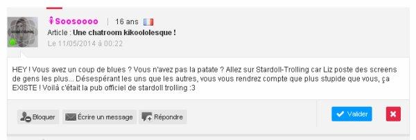 Bienvenue sur Stardoll-Trolling