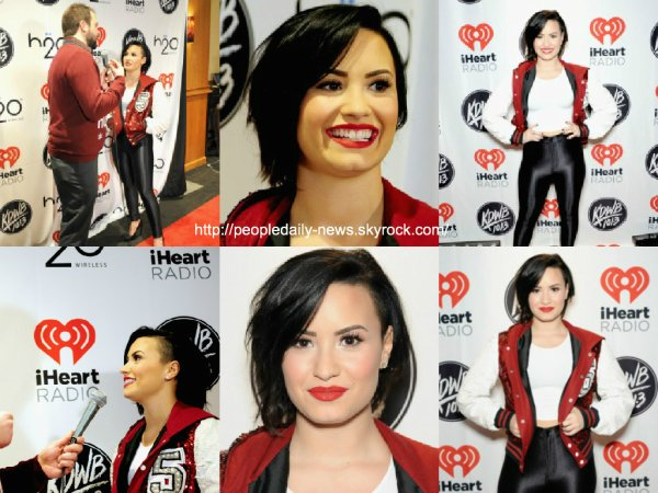 8 décembre 2014 : Demi Lovato au 101.3 KDWB's Jingle Ball à St Paul