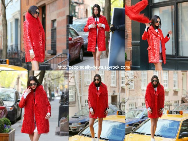 25 avril 2015 : Kendall Jenner a été vue en train de faire un photoshoot à New York