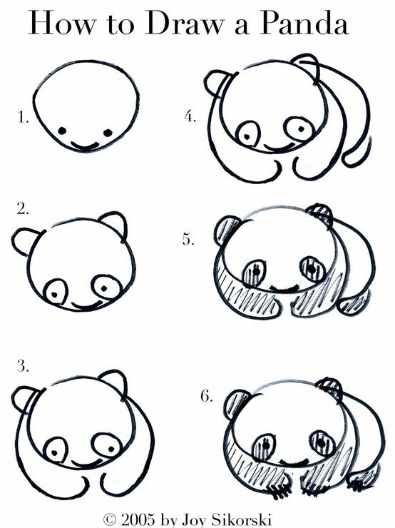 Dessiner Un Panda Tout Simple Do It Yourself