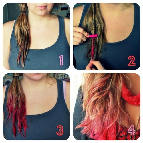 Coloration cheveux craie grasse