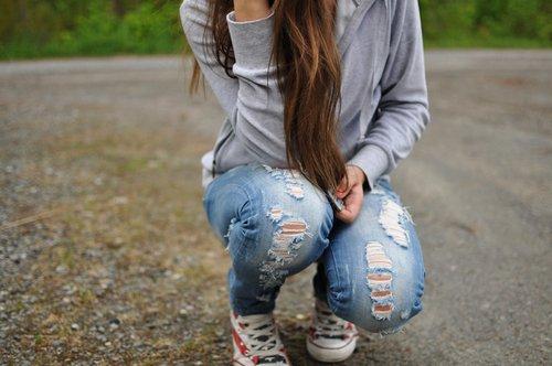 Un jean déchiré