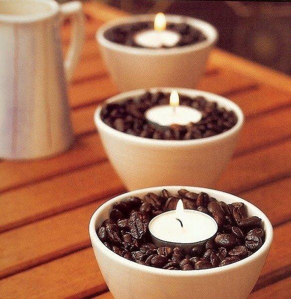 Des bougies café
