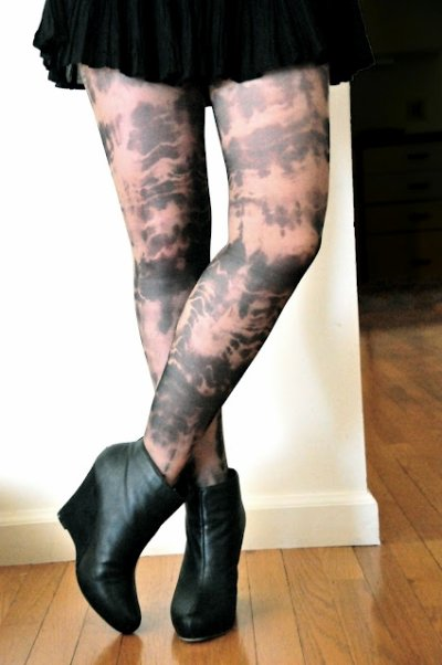 Des collants tie and dye