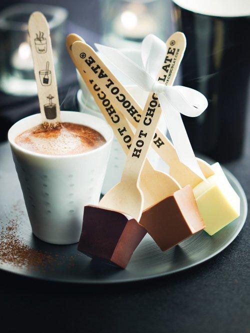 Chocolat chaud en bâton