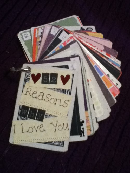 """52 things I love about you"" cards"