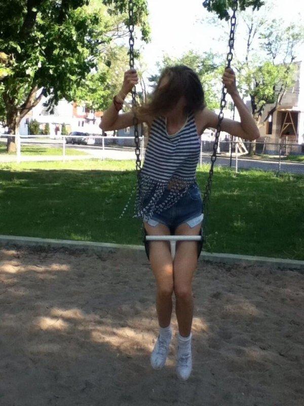 Hahaha moi qui m'amuse au parc :)