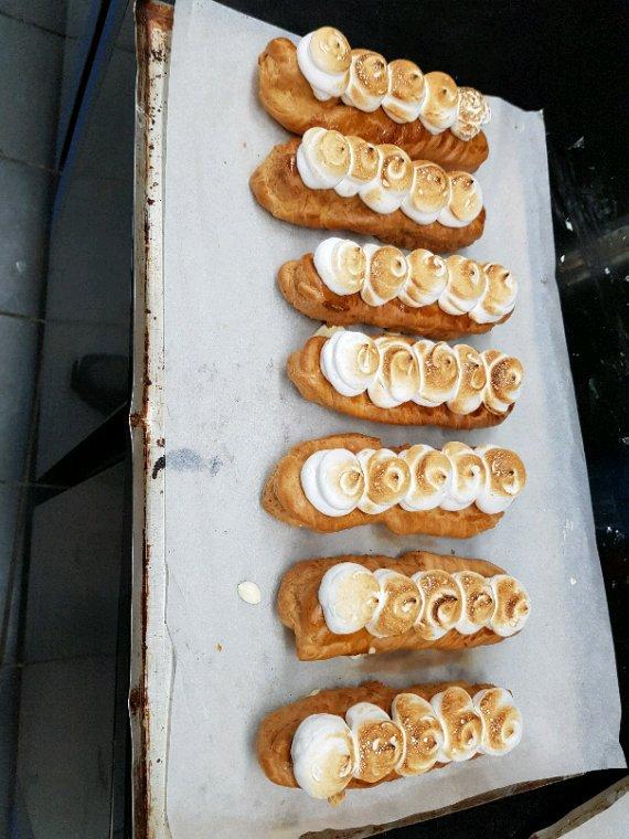 choux façon tarte citron meringue maison