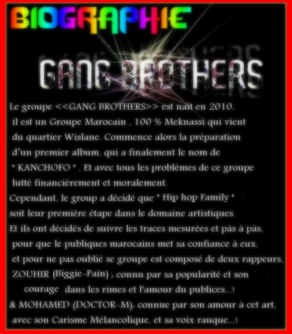 BioGraPhie !!   du group