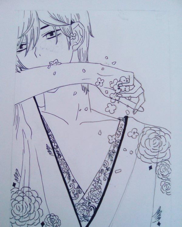 Dessin de persos en kimono~