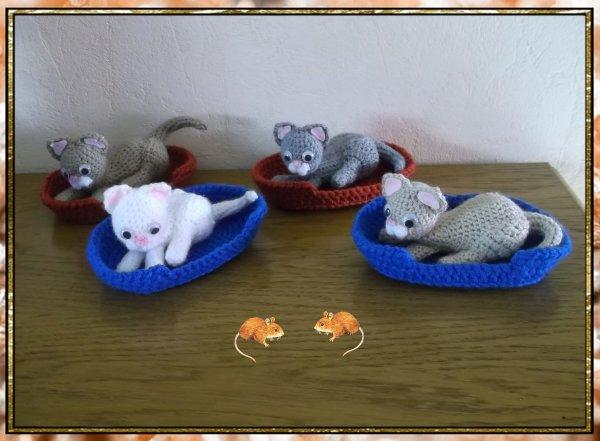"""Petite commande """"chat dans son panier"""" * 4"""