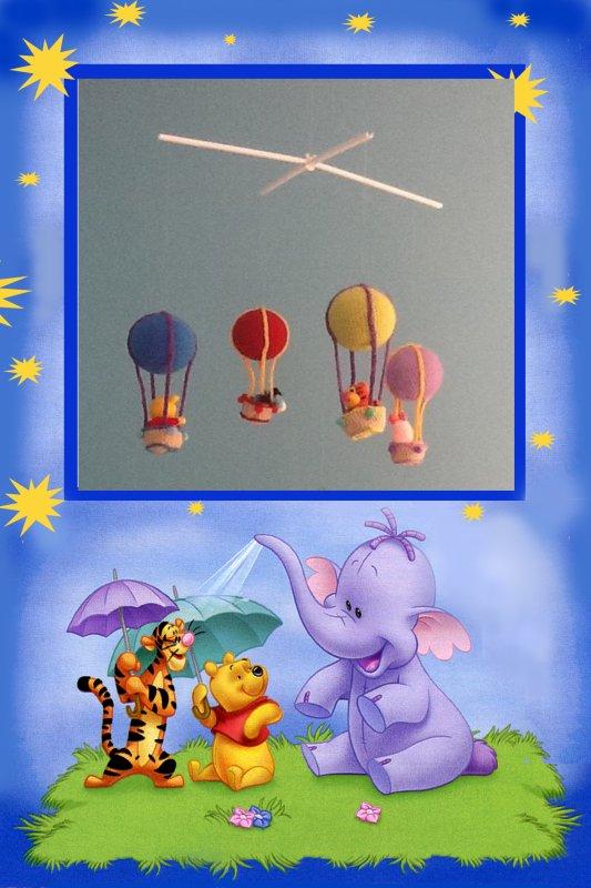 Mobile montgolfières Winnie