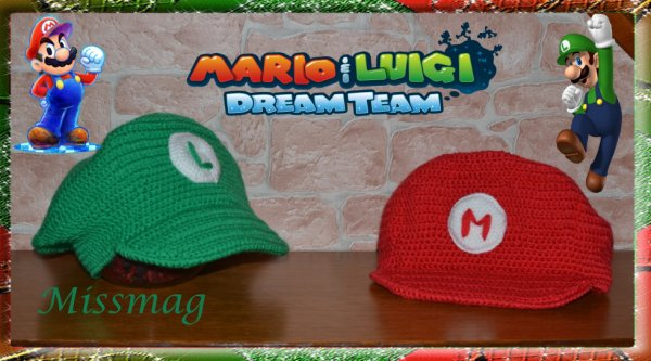 Casquettes Mario et Luigi