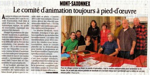 Articles Dauphiné et Messager sur notre AG