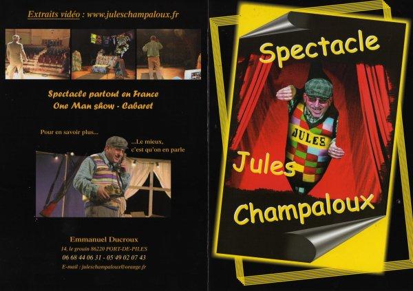 Spectacle humoristique  JULES CHAMPALOUX