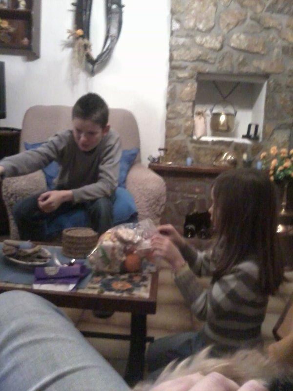 Gaël qui est venu un peu chez nous avec Loïc et Sophie