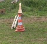 Avec des cônes
