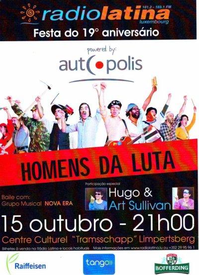 Hugo et Art Sullivan seront au Grand Duché du Luxembourg, le 15 octobre 2011 avec RadioLatina.