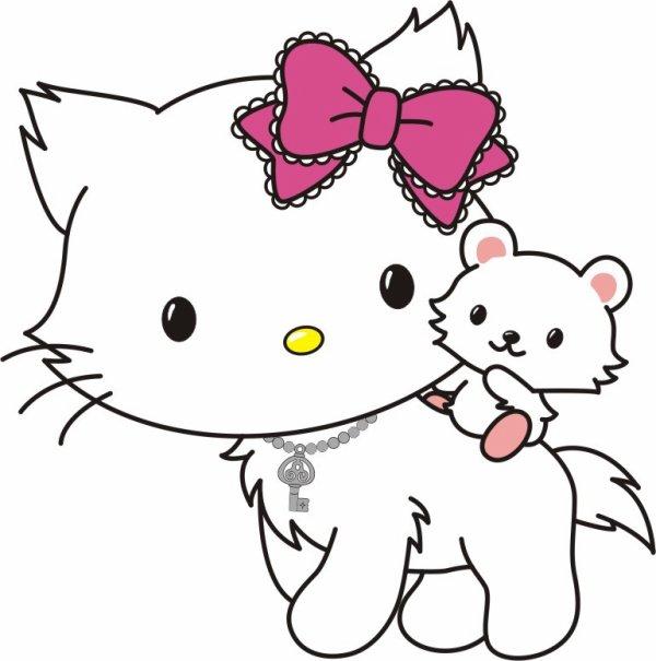 Hs hello kitty en version chat digimon fan blog 39 z - Hello kitty et mimi ...