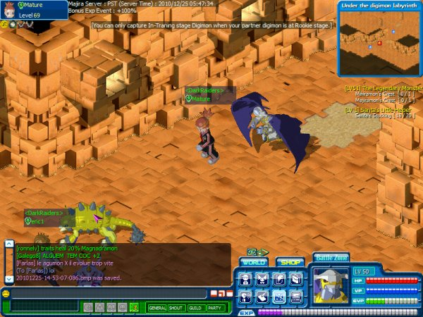 Screenshots digimon battle