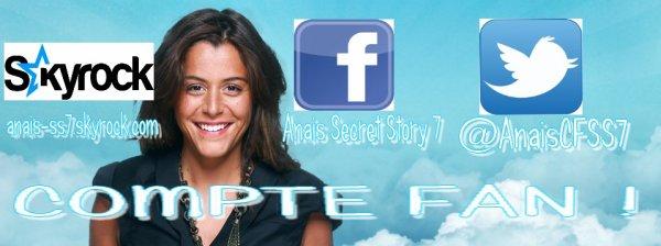Réseaux sociaux : FAN PAGE ANAIS !