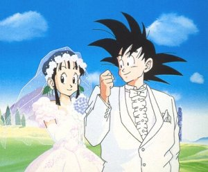 Mariage de Sangoku et Chichi