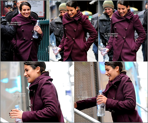 14 MARS 2011 ▬ Léa a était vu au Naturelle se rendant sur le set de son prochain film '' New Years Eve ''
