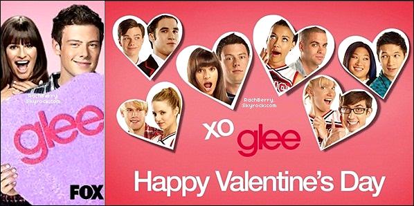 GLEE ▬  Découvrez en Exclusivité des Carte Postal spéciale St-Valentin realisée par la FOX !
