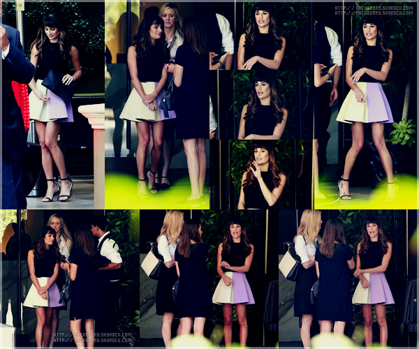 """OCTOBER 8TH // Lea a été vue quittant """"Four season"""" apres avoir participer a une conférence pour Glee!"""