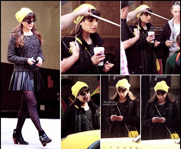 FEBRUARY 19TH // Notre sublime Lea a été apercue sur le set de Glee avec Kevin dans les rues de Los Angeles.