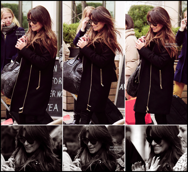 MARCH 4TH //  La sublime Lea a était apercue quittant son hotel dans New York afin d'enregistrer une emission.